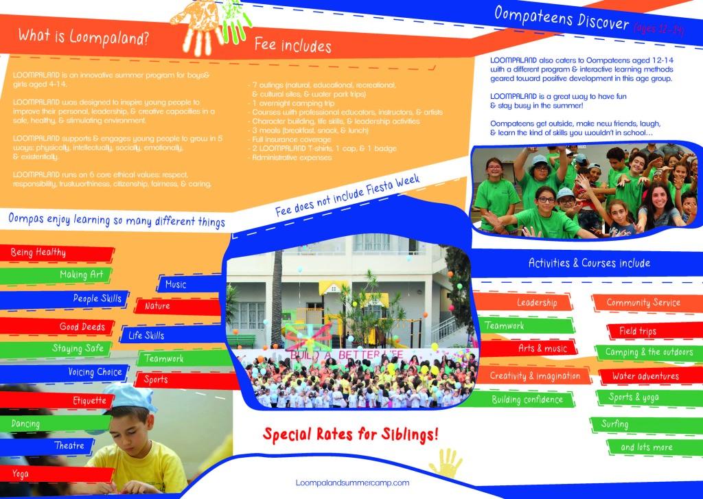 Loompaland 2018 Brochure
